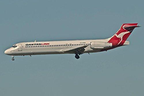 (Quality Prints - Laminated 35x24 Vibrant Durable Photo Poster - Qantas Link Boeing 717-231 VH-NXMBNE 667dd cn 55094 508428092001 TWA N2427A 02122001 American Airlines N2427A 20052002 Qantaslink)