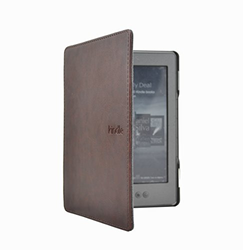 Huasiru PU Leather Case Cover for Amazon Kindle 4 & Kindle 5 Generation (Button Version) Only, Coffee