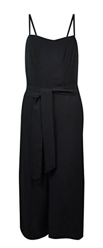 INC International Concepts Women's Belted Gaucho Jumpsuit (8, Deep Black) (Gaucho Pants Belted)