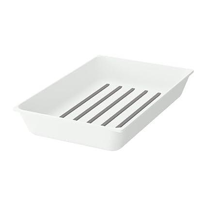 IKEA VARIERA – bandeja de utensilios Blanca Tamaño 20 x 31 cm