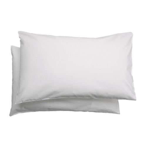IKEA LEN - Pillowcase for cot, white / 2 pack - 35x55 cm by IKEA