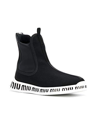 Poliéster Zapatillas Mujer on Negro 5t899b3k65f0002 Slip Miu ZHqpwtp