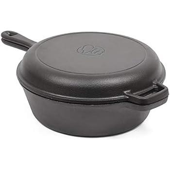 Amazon.com: Pre-Seasoned Cast Iron 2-In-1 Multi Cooker - 3