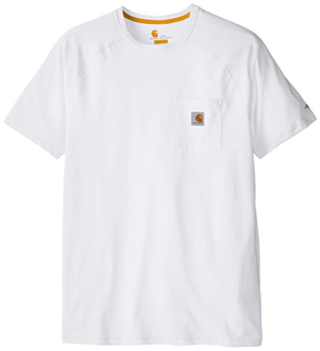 Carhartt Men's Big and Tall Force Cotton Delmont Short Sleeve T-Shirt (Regular and Big & Tall Sizes), White, 4X-Large