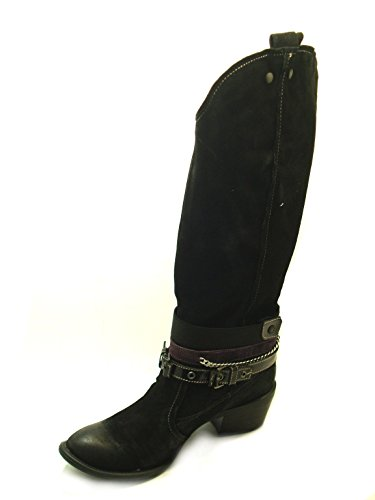 Mujer para CafèNoir Botas Negro Cuero Negro de wqTOT8I