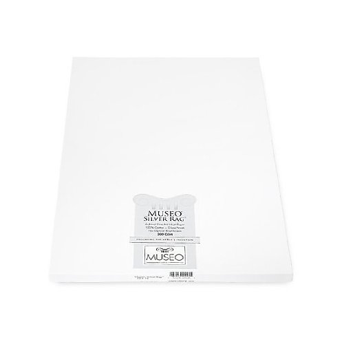 Museo Silver Rag, Archival Fine Art Gloss Inkjet Paper, 300gsm, 15mil, 13x19'', 25 Sheets. by Museo