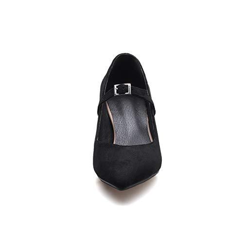 5 Femme Compensées 36 AdeeSu SDC05901 Noir Sandales Noir x88twO0