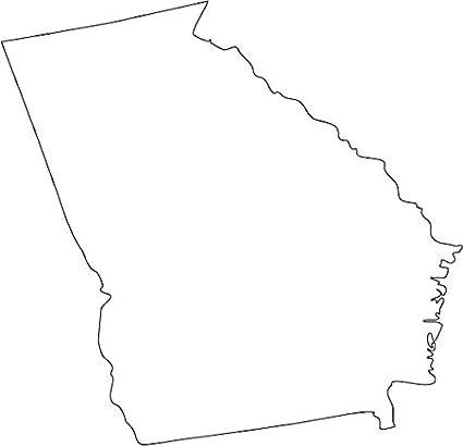 Amazon Com Picniva White Georgia Ga Map Removable Vinyl Wall Decal