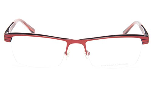 NEW PRODESIGN DENMARK 4133 c.4021 RED EYEGLASSES FRAME 53-17-135 JG B31mm Japan
