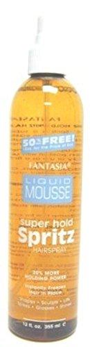 Fantasia Spritz Liquid Mousse 12 Ounce Pump (Super) (354ml) (2 Pack)