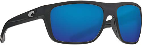 Costa Del Mar - Broadbill - Matte Black Frame-Blue Mirror 580 Glass Polarized -