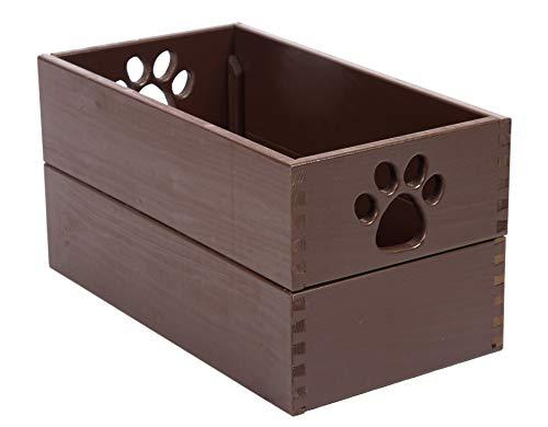 Pet Toy Box Mahogany