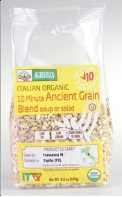 Agribosco Organic Italian 10 Minute Ancient Grains – 8.8 Oz (Case of 12) by Agribosco
