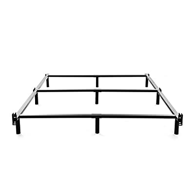 NOAH MEGATRON Queen Size Metal Bed Frame-7 Inch Heavy Duty Bedframe, 9-Leg Support for Box Spring and Mattress Set, Black