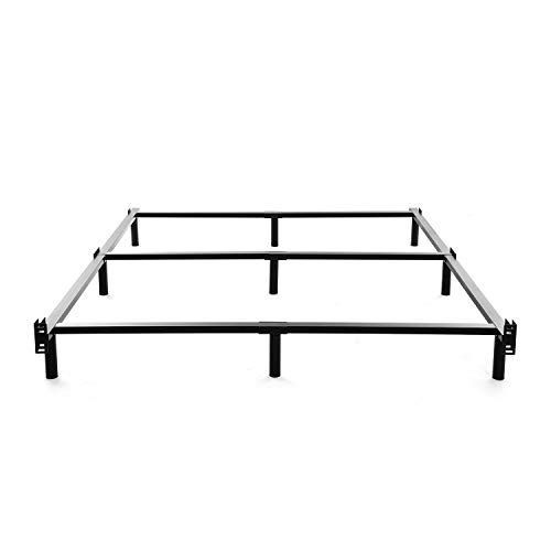 (NOAH MEGATRON Queen Size Metal Bed Frame-7 Inch Heavy Duty Bedframe, 9-Leg Support for Box Spring & Mattress Foundation, 3000LBS, Black)