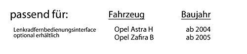 Opel Zafira B schwarz 2DIN Autoradio Radio Einbauset JVC KW-R520E