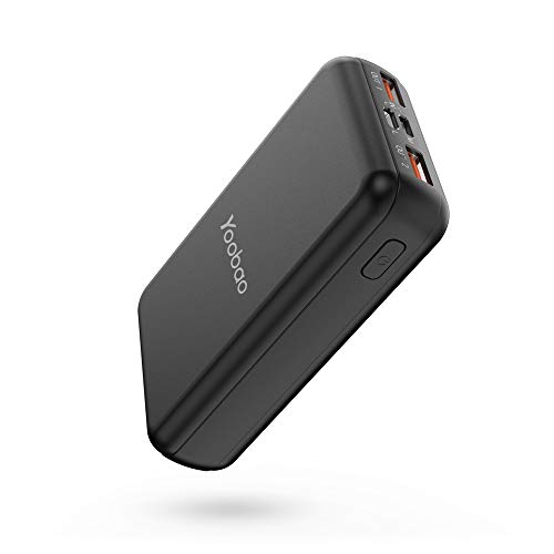 Portable Charger 10000mah Yoobao Power Bank External Battery Pack Powerbank Cell Phone Battery Backup Charger with Dual Input & Output Compatible iPhone Xs/X/8/7 Samsung Galaxy Cellphone More -Black from Yoobao
