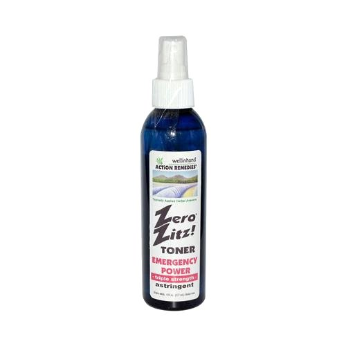 Wellinhand Action Remedies Zero Zitz Emergency Power Astringent Toner, 4 Fluid Ounce