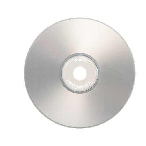 Verbatim 700 MB 52x 80 Minute Inkjet Printable Recordable Disc CD-R - 50 Disc Spindle, Silver 95005 CustomerPackageType: Standard Packaging Style: 50-Disk Inkjet, Model: 95005, Electronic Store by Electronics More
