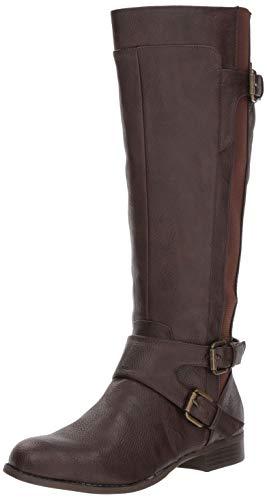 Women Boots Shaft - LifeStride Women's Fallon Tall Shaft Boot Knee High, Brown, 8.5 M US