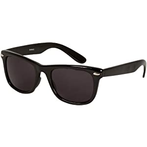 Sakkas DS1006 Retro 1980's Style Sunglasses with Super Dark Lens - Black