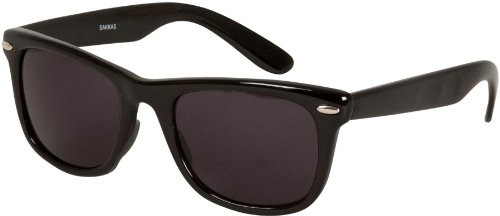 Sakkas DS1006 Retro 1980's Wayfarer Style Sunglasses with Super Dark Lens - - Glasses 1980