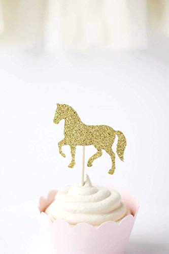 Amazon.com: Horse Cupcake Toppers | Kentucky Derby Party Supplies ...