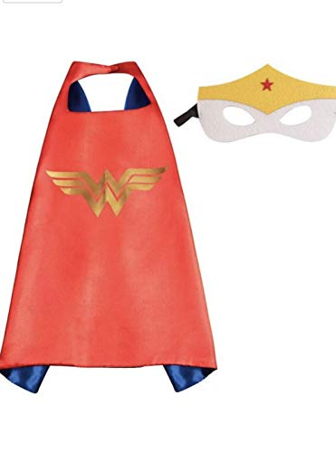Superhero Costume and Dress Up for Kids - Satin Cape and Felt Mask
