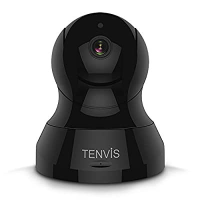 TENVIS HD IP Camera- Wireless Surveillance Camera with Night Vision/Two-Way Audio/PTZ, 2.4Ghz WiFi Indoor Home Security Dome Camera for Pet Baby, Remote Monitor with MicroSD Slot, Android,iOS App by TENVIS