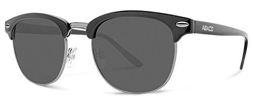 Abaco Montana Sunglasses Matte Black Frame Polarized Grey - Brooklyn Sunglasses