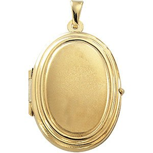 14k Yellow Gold Oval Locket by The Men's Jewelry Store (for HER)
