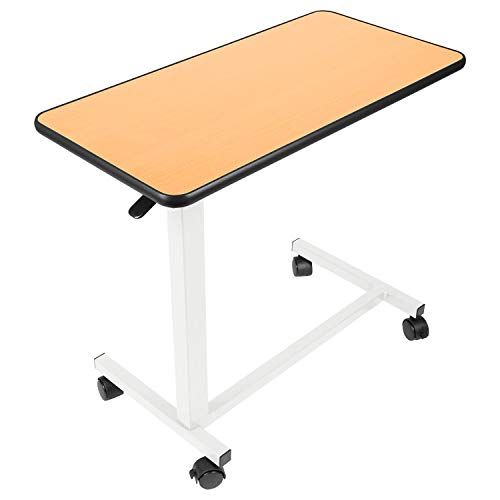 Vive Overbed Table - Swivel Wheel Rolling Tray Table - Adjustable Bedside Table for Home, Hospital - Over Bed Laptop, Reading, Eating Breakfast - Low High Cart - Bedridden, Elderly, Senior Patient Aid