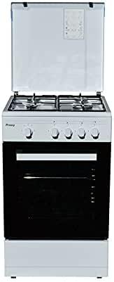 Cocina 50 cm de ancho con horno eléctrico PROXY, color blanco ...