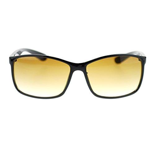 Mens Classic Rectangular Secret Agent Classy European Sunglasses Black - Sunglasses Agent Secret