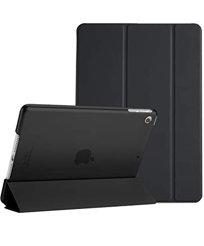 ProCase Smart Case for iPad Air 1st Edition, Ultra Slim Lightweight Stand Protective Case Shell with Translucent Frosted Back Cover for Apple iPad Air 2013 Model (A1474 A1475 A1476) -Black (Ipad First Generation Smart Case)