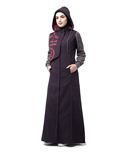 Silk Route Burgundy Red Winter Knit Printed Cotton Sporty Maxi Dress Jilbab XXLarge 60 by Silk Route