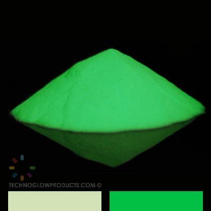 Green Glow in the Dark & UV Powder - Waterproof 45-60 Microns (1 KG) by Techno Glow Inc