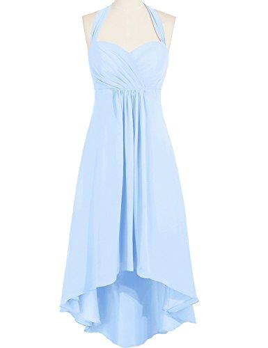 Duraplast Women's Prom Dress High Low Evening Gown Halter US4 Sky Blue