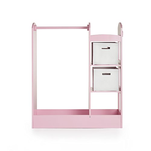 Guidecraft See and Store Dress Up Center Pink - Armoire, Dresser Kids' Furniture by Guidecraft (Image #2)