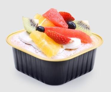 KEISEN square 3 3/5 Disposable Aluminum Foil Cups 150ml 5.5oz 100/PK for Muffin Cupcake Baking Bake Utility Ramekin Cup ()