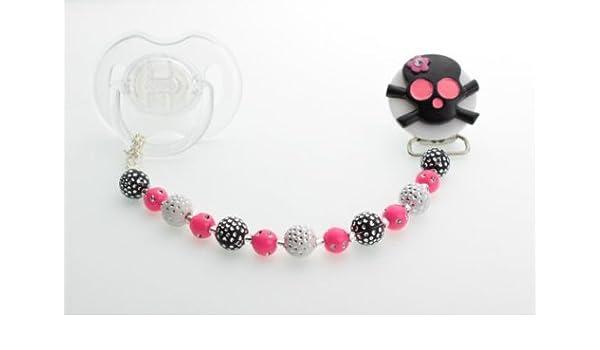 Cristal sueño negro y rosa lazo cuentas de cristal de ...