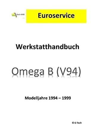 Amazon.es: E-Tech Reparación Instrucciones/Taller Manual (CD) Opel Omega B