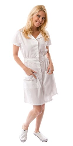 Dress A Med Designer Missy Fit Nurse Dress Small White -