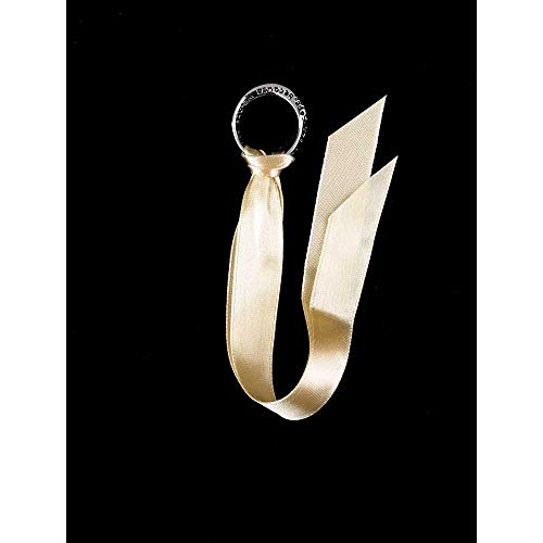 - Circle of Hope Golden Cream Silver-Plated Pendant Ribbon Bookmarks, Pack of 6