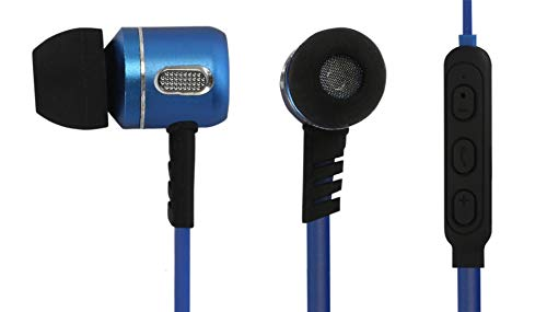 Electroline Wireless Sport Earphones, in Ear Neckband Headphone Bluetooth Headset with Mic  TM 072 Blue