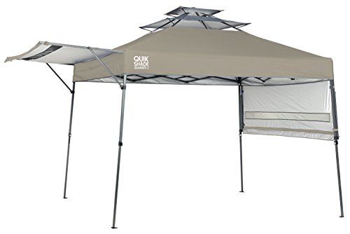 - Quik Shade Summit 10 x 17-Foot Instant Canopy with Adjustable Dual Half Awnings, 170 Square Feet of Shade for 15 People - Taupe