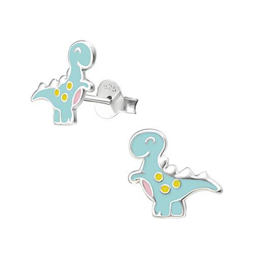 ICYROSE 925 Sterling Silver Cute Tiny Dinosaur Children's Stud Earrings (Nickel Free) (Allosaurus ()