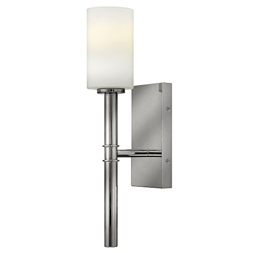 Hinkley 3580PN Transitional One Light Wall Sconce from Margeaux collection in Chrome, Pol. Nckl.finish, (Hinkley Sconce Chrome)