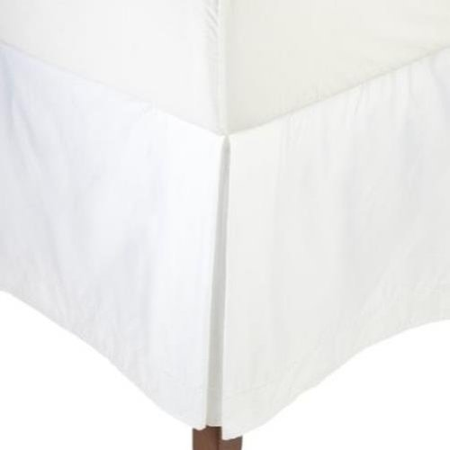 UPC 732995898170, Hotel Collection Modern Deco 400TC Bedskirt King Solid White in Open Package / White
