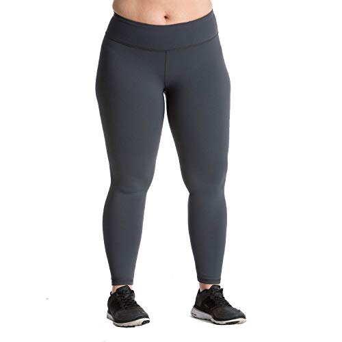 Plus Size Leggings - Premium Quality Women's Compression Yoga Pants for The Curvy Girl - Made in USA - Charcoal 22-24 (XXXL)]()